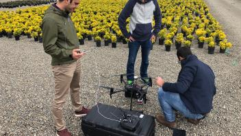 Preparation for flight at a nursery with DJI Matrice 210 equipped with Altum Multispectral Camera